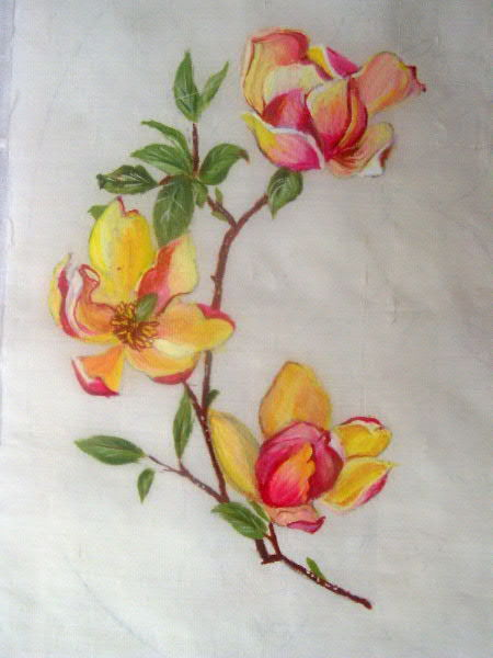 Flower patterns for silk painting flowers healthy flower painted silk fabric in annamar colony flower painted silk fabric in sivakasi tamil nadu lordson expo mightylinksfo