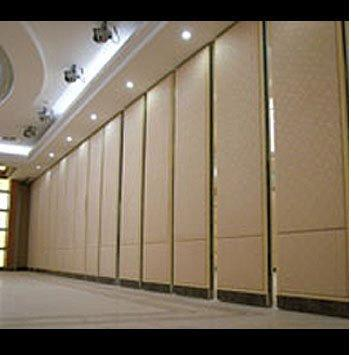 Sound proof sliding folding wall partition in malad w for Sliding door partition wall