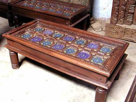 Antique design center tables in jodhpur rajasthan for Latest center table design