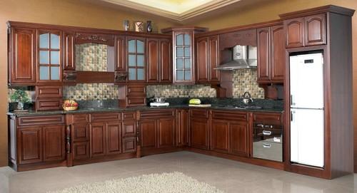 Oak wood kitchen cabinet in foshan guangdong foshan lu for Beech wood kitchen cabinets