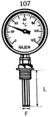 Bimetal Dial Vertical Thermometers