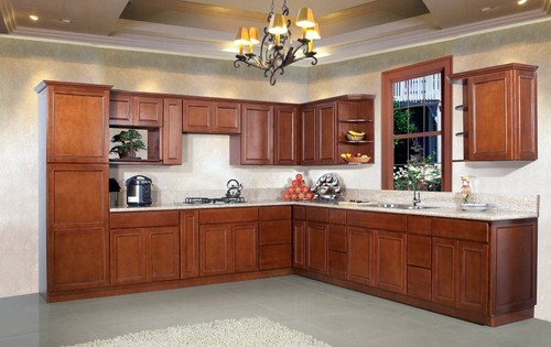 Oak Wood Kitchen Cabinet In Nanhai District