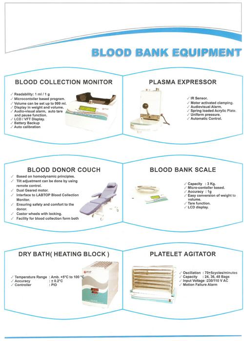 blood collection monitor Bm 323 is a revolutionary blood scale collection monitor and mixer it can be  used in both immobile and mobile states it offers superior quality blood (platelets ).