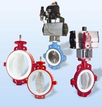 PTFE Lined Butterfly Valves
