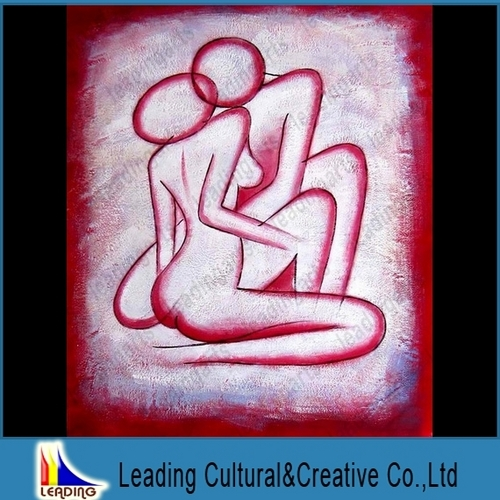 Abstract Nude Figure Oil Painting On Canvas
