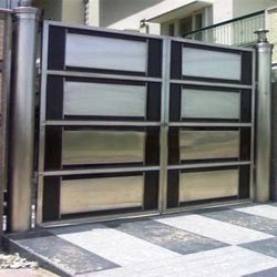 Stainless steel gates in indl area ph 1 panchkula for Stainless steel driveway gates designs
