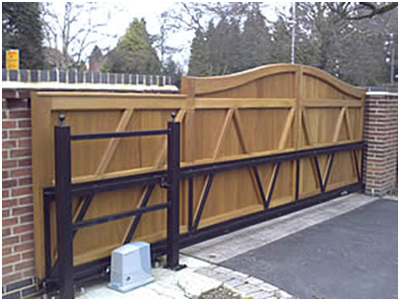 Wooden sliding gates in arumbakkam chennai indian for Wooden sliding driveway gates
