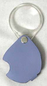 Folding Pocket Magnifier (Leather Case)