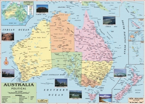 Australia Political Map In Model Basti New Delhi Exporter And - Australia political map