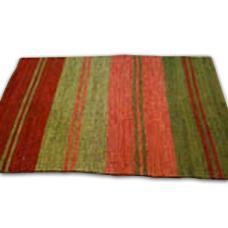 Stripe Worked Jute Rug in  Durgapura