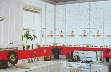 Kitchen Designed Tiles In Near Trajpar Char Rasta Morbi Exporter And Manufacturer