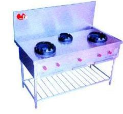 Three Burner Cooking Station in   Industrial Area
