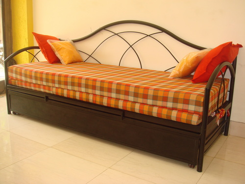 wrought iron sofa cum bed in chembur mumbai. Black Bedroom Furniture Sets. Home Design Ideas