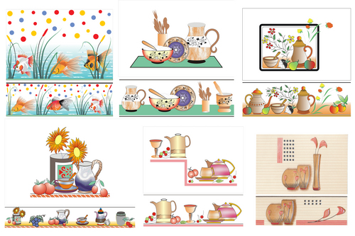 Kitchen Tiles Concept kitchen concept tile in near coral gold ceramic, morbi - manufacturer