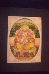 Lord Ganesha Painting On Camel Bone