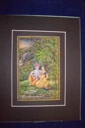 Radha Krishna Painting On Camel Bone