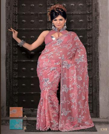 Ladies Fully Embroidered Sarees