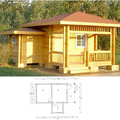 Heritage Wooden Portable Living-Unit in  Dilshad Garden
