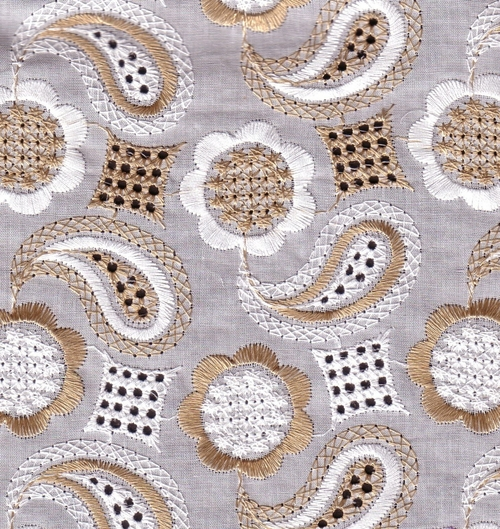 Designer embroidery fabric in bhiwandi
