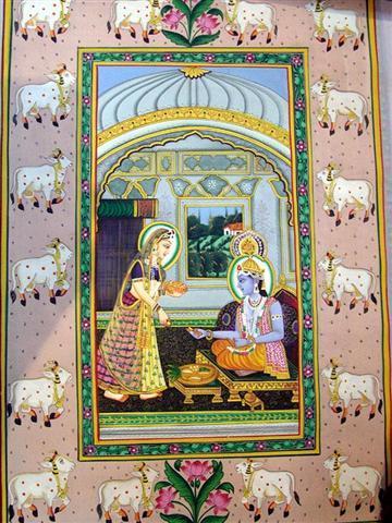 Radha Krishna Ethnic Paintings