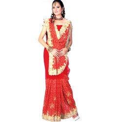 Embroidered Bridal Saree in  Chandni Chowk