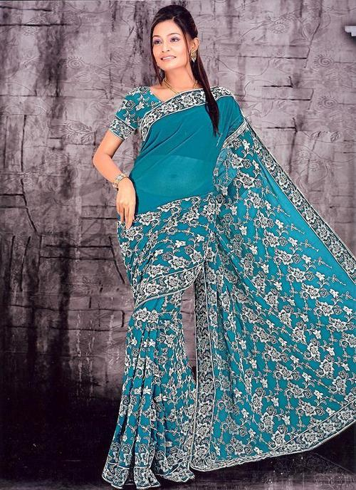 Embroidered Patch Work Sarees