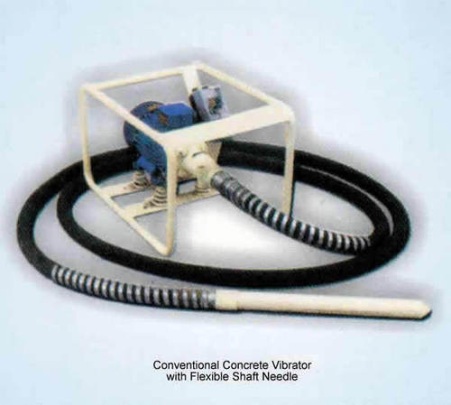 Conventional Concrete Vibrator With Flexible Shaft Needle