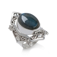 Cabochon Silver Rings
