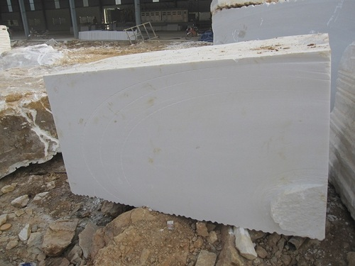 White Marble Block : Vietnam pure white marble block in cau giay district ha