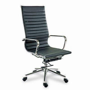 Office Chair With Chrome Steel Finish