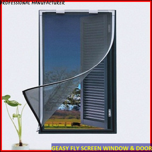 Magnetic insect screen for windows in tianhe area foshan for Retractable window fly screens