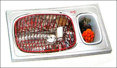 Kitchen Sink With Garbage Bin