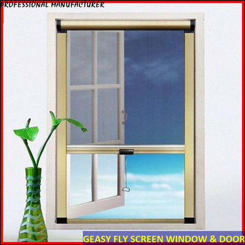 Magnetic insect screen for windows in foshan guangdong for Retractable bug screen door