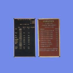 Changeable Letter Board in Wazirpur Indl. Area, Delhi - Manufacturer