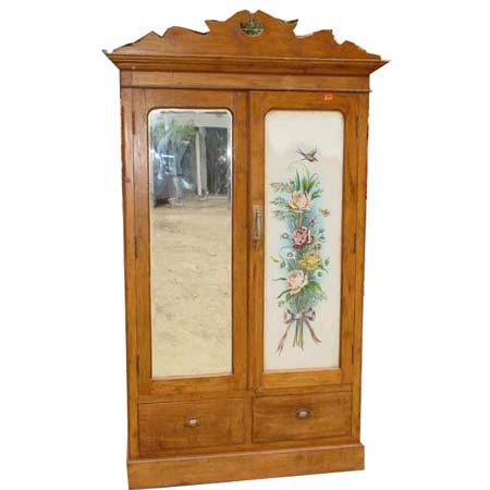 Decorative wooden glass almirah in lajpat nagar ii new Pictures of wooden almirahs