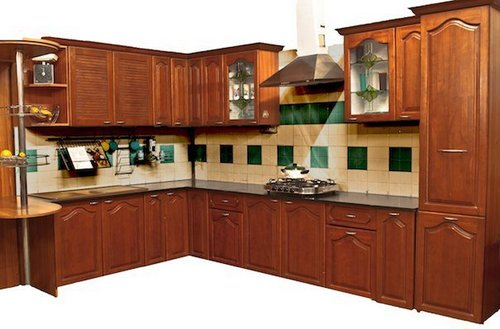 Modular kitchen solid wood in 4 sector noida for Wooden modular kitchen designs