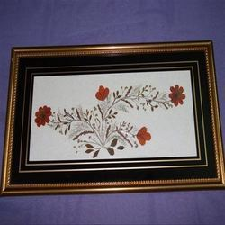 Floral Screen Glass Wall Frame