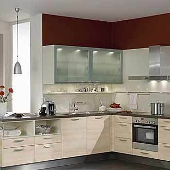 Shaped Modular Kitchen In Nit, Faridabad Kaushik Enterprises. ➤. Modular  Kitchen Design L ...