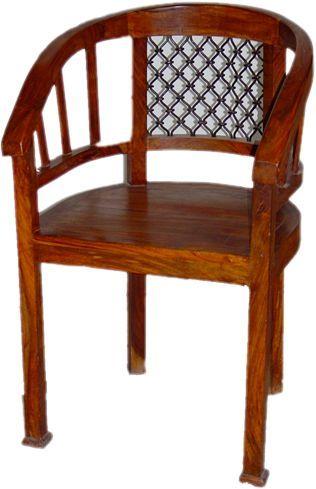 Good Iron Mesh Back Round Wooden Chair In Jodhpur Rajasthan MAHAVEER