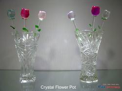 Colour Crystal Flower Pot