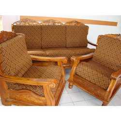 Teak Wood Sofa With Cover In Barasat Kolkata J D Interiors Furnitures