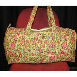 Cotton Hand Printed Travel Bag