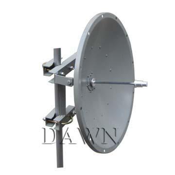 5150 to 5850 MHz 28dBi WLAN Wi-Fi Die Cast Parabolic Antenna with Dual-Polarization
