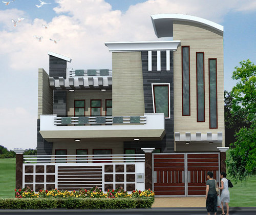 3d elevations in 19 sector faridabad 3d design interiors for Indian house photo gallery