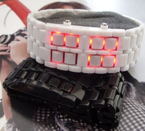 Slim Mens LED Wrist Watch