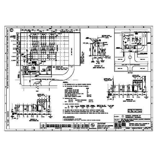 Electrical layout plan and elevation 33kv substation in for Substation design pdf