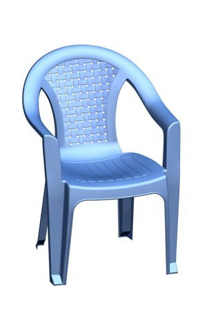 plastic chair blue in ganeshwarpur industrial estate