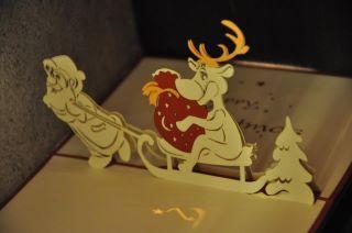 Santa Funny - Handmade Pop-Up Greeting Card