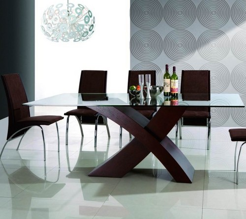 Glass And Wood Dining TableDining Desk in Tongqiao Industrial