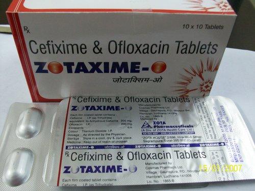 Cefixime And Ofloxacin Tablets (Zotaxime-O)